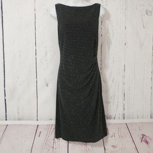Nine & Co Black/Silver Ruched Knee Length Dress